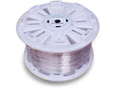 our 10 kg spool can fit 1350 meters for our 2.6mm wire in polyester.