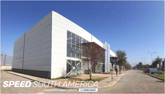 Synthetic monofilament factory based in Santiago.